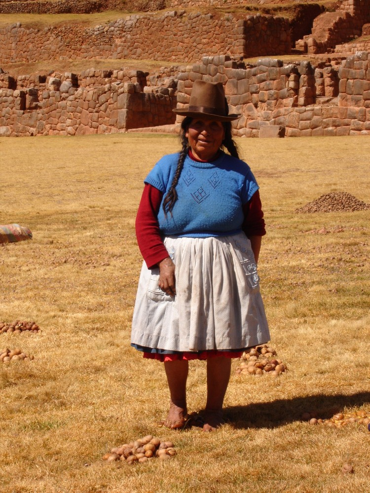 Potato Lady in Chinchero