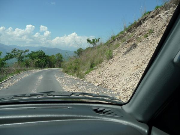 Our road from Mixco varied from a newly paved road