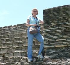 Sheree on the pyramid.