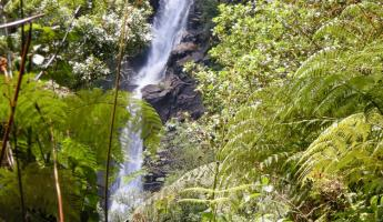 View of Chilasco Falls - the photo doesn\'t show its beauty
