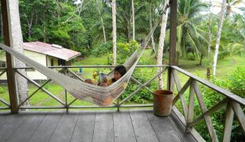 Day 4: porch at pacuare lodge