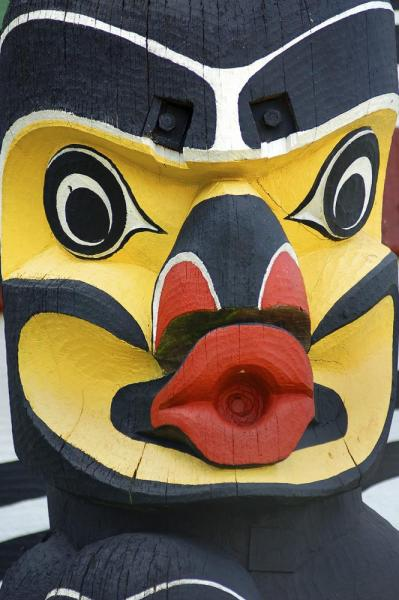 Totem on an Alaska culture tours and cruises