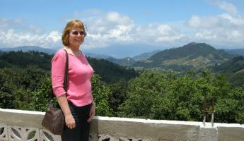 Sheree and Lake Atitlan lookout
