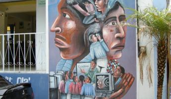 One of many murals in San Juan