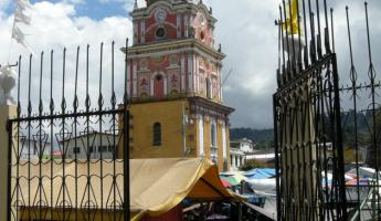 Solola market and Railroad building seen from church