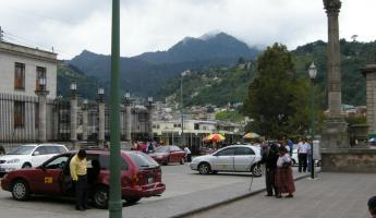 View from Xela\'s main square