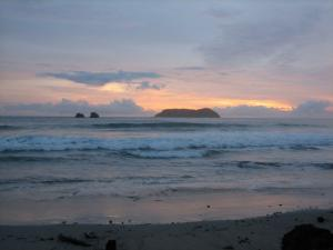 Manuel Antonio with sunset in the background
