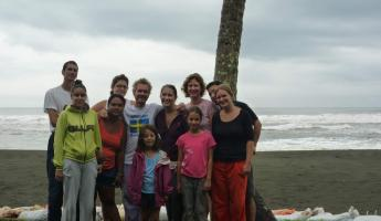 Day 5:  the hard-working group at Pacuare!