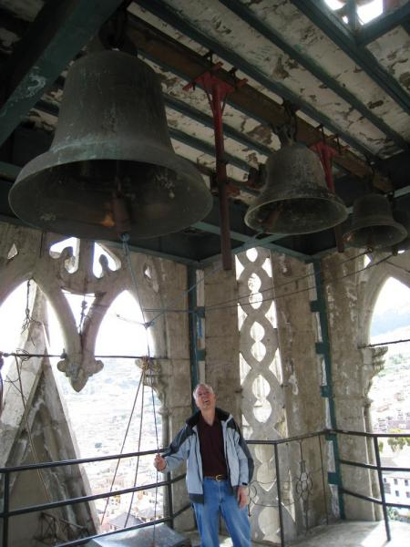 Ringing the bells in the Basilica