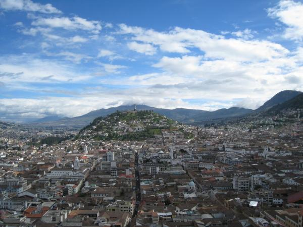 Old city Quito, from the Basilica