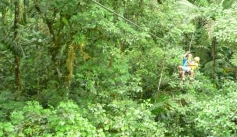 Day 7: ziplining out to the tree platform