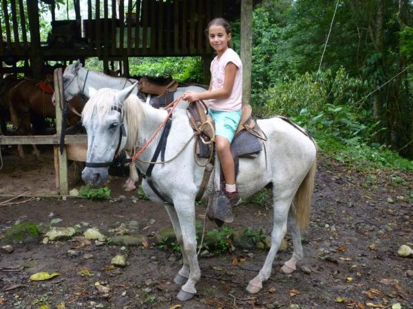 Horseback riding (at the stables)
