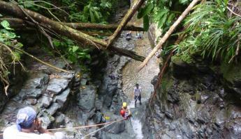 Day 6: rappelling down the waterfall