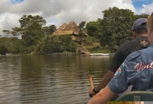 Approaching the remote La Selva Lodge - Ecuadorian Amazon