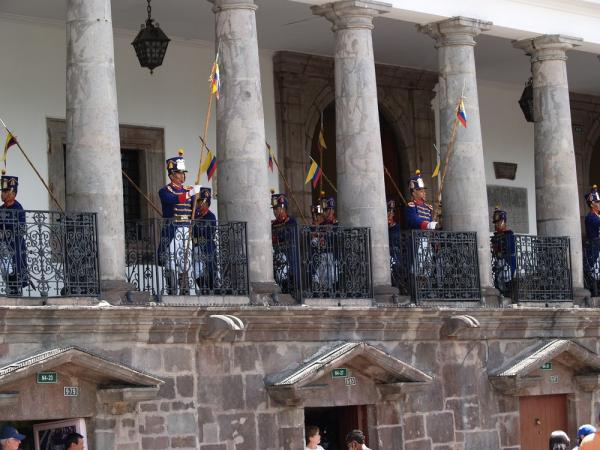 Changing of the Guard at the Presidential Palace in Quito