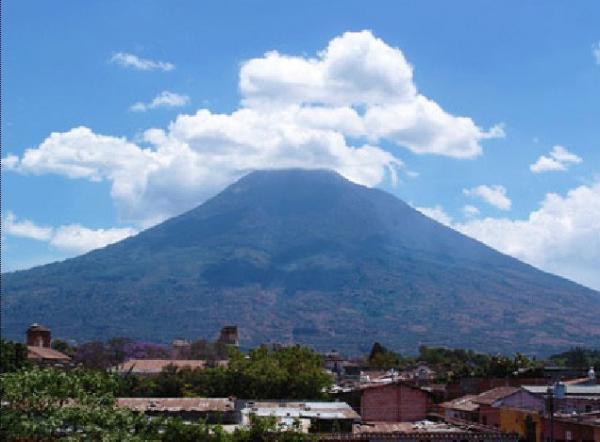 View Volcan de Agua from Hotel 1840