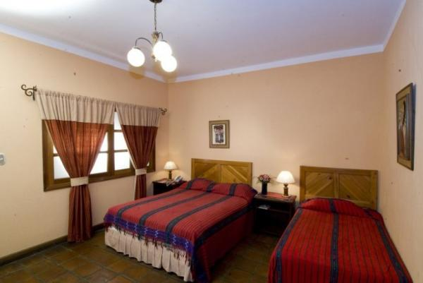 Rooms are furnished with local handcrafted furniture