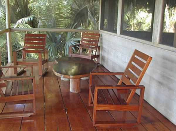 Soak in the jungle from your screened porch
