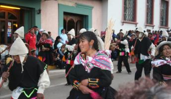 The parade in Puno