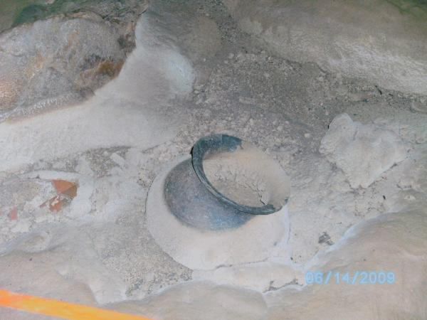 Ancient Maya pottery in the ATM cave