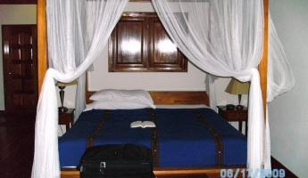 Princess bed at beach hotel Belize