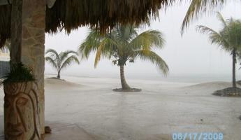 Downpour in Belize - yes we walked in that