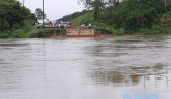 The bridge that washed out during last year\'s flooding