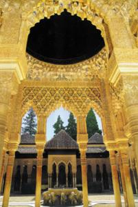 An intricate Moroccan mosque