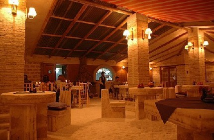 Enjoy the cuisine in Mirador Tunupa, the restaurant