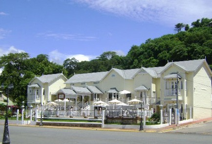 Hotel Victoriano Inner Courtyard Located Harbour Side In San Juan Del Sur