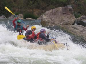 Rafting on the Andean Multisport tour