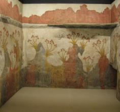 Frescoes in museum (recovered from Akrotiri)
