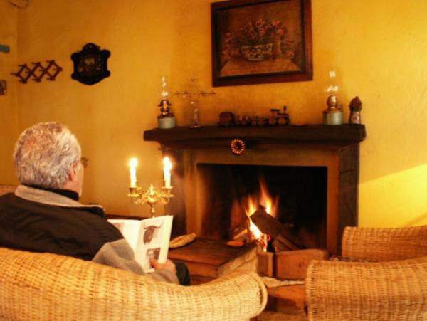 Crackling fires warmly invite you to relax