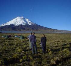 Camping at the base of Cotopaxi