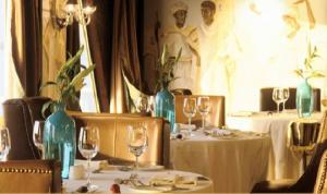Dine from gourmet menus in the dining room
