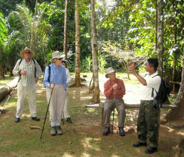 Learning about the rainforest in Guyana