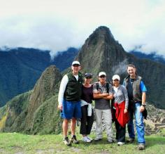 At the mysterious ruins of Machu Picchu