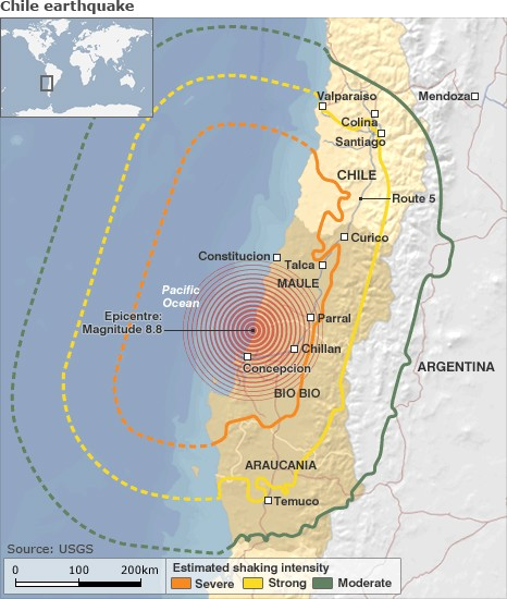 Earthquake Effects on Chile Travel   Chile Travel News