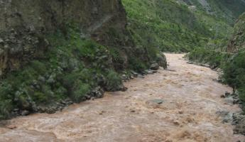 the raging Urubamba River