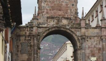 Old Inca entrance to the city of Cusco