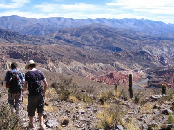 Trekking through the Argentine mountains