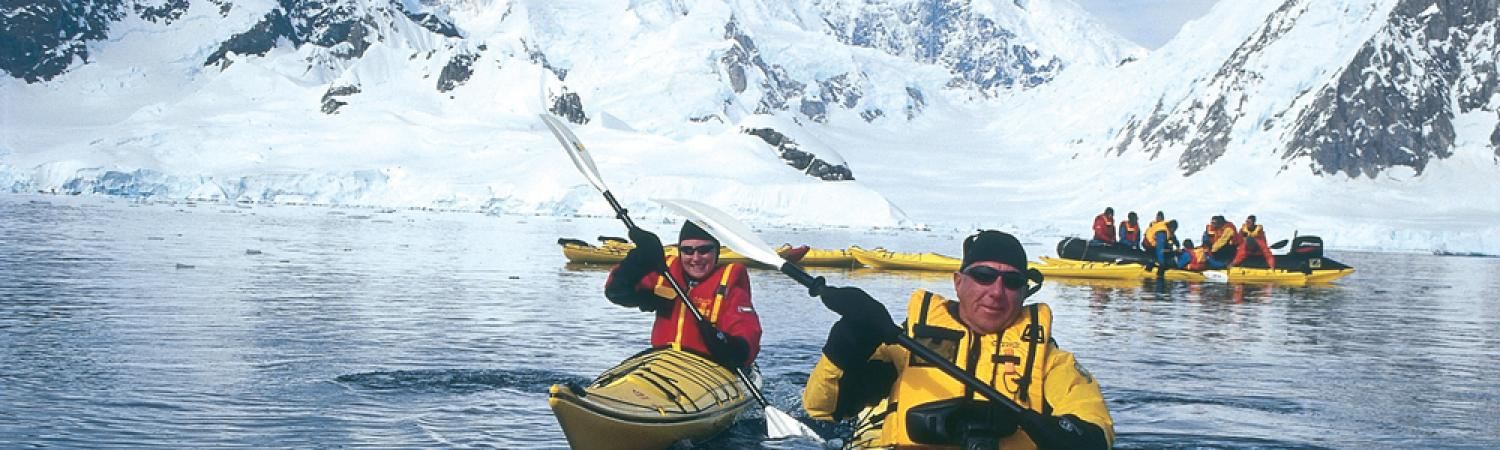 Kayaking the Antarctic waters