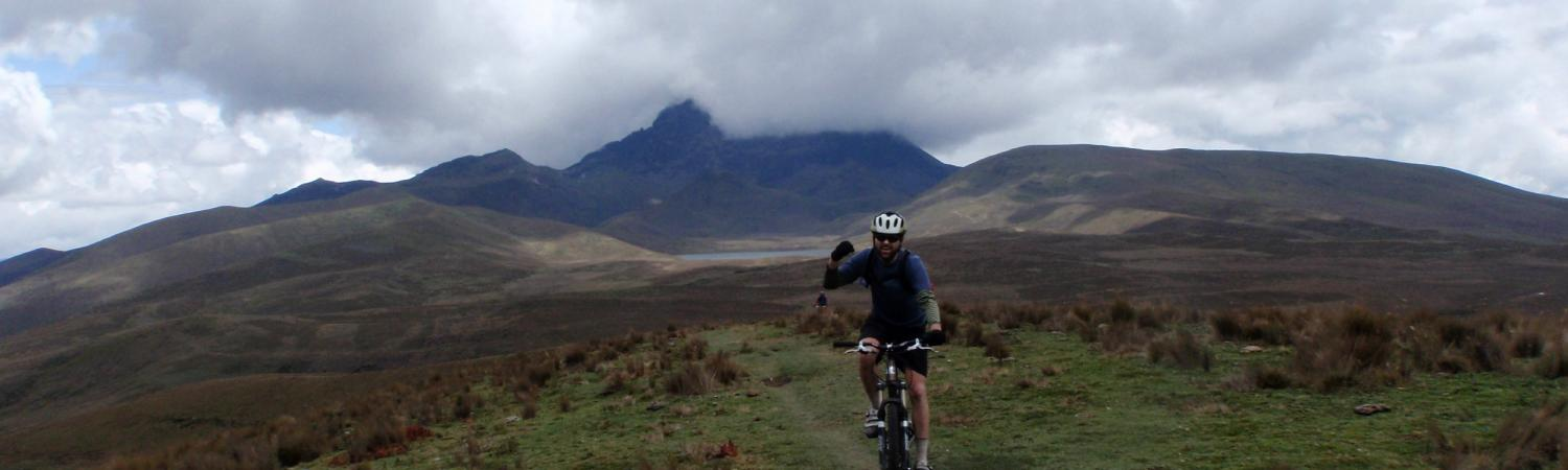 Experiencing the highlands of Ecuador on a mountain bike tour