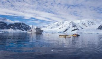Kayaking the polar waters