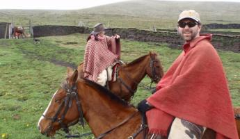 Horseback riding in Ecuador
