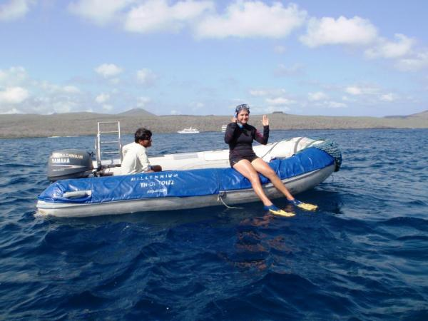 Going snorkeling in the Galapagos