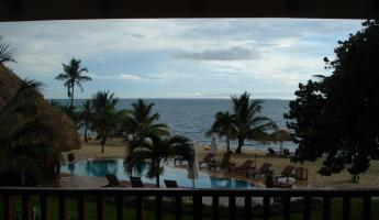 View from the balcony overlooking the Carribean