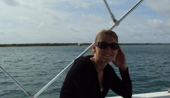 Me on a boat in Belize
