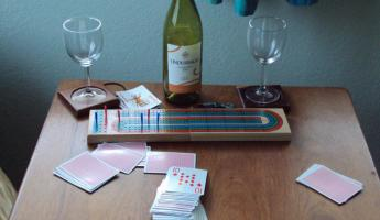 Cribbage and wine