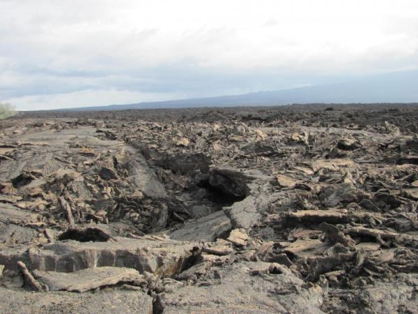 Pahoehoe lava - and this is the lava that is easy to walk on